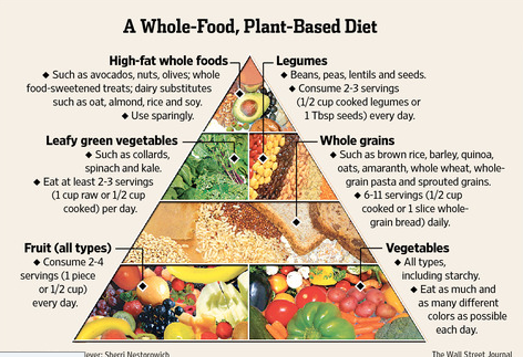 Plant-based Food Pyramid. Courtesy of Dr. Kyle Homertgen of DrKyle.com